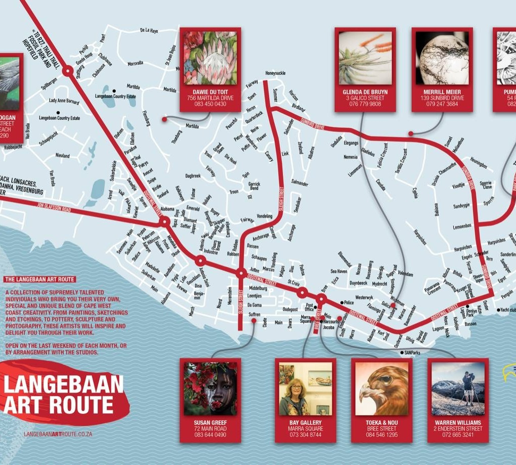 Map of Langebaan Art Route Western Cape South Africa Always Summer Photo Gallery