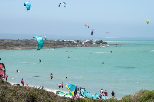 Kite-Surfing Shark Bay Langebaan Lagoon West Coast South Africa