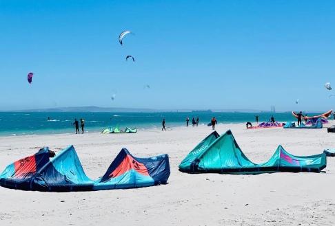 Kite-Surfing, Langebaan, West Coast, South Africa